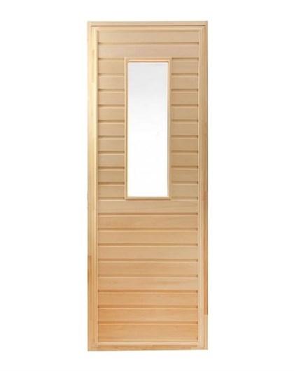 Дверь для Бани со стеклом - 1800х700 - фото 4509