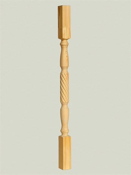 Балясина из дерева Витая - 60x60 Сорт A - фото 4870
