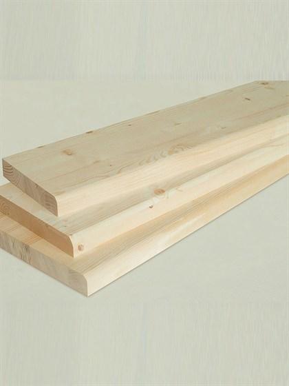 Ступень деревянная 1300x250x40 - фото 4954