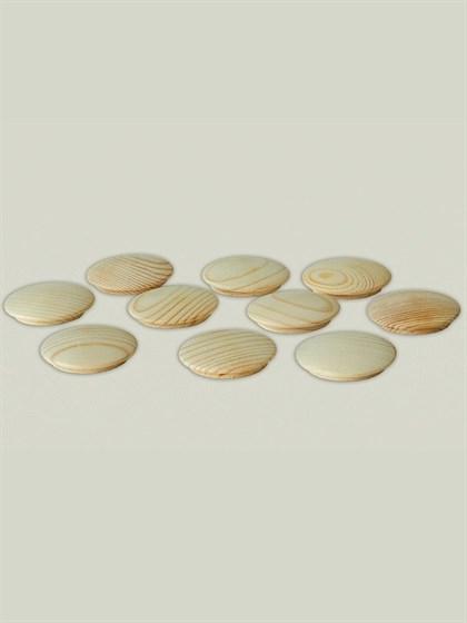 Заглушка деревянная 25 мм (упак - 10 шт) - фото 6492