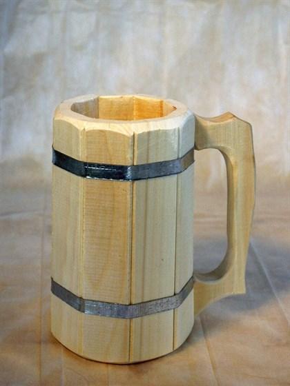 Кружка деревянная 1 л - фото 6540