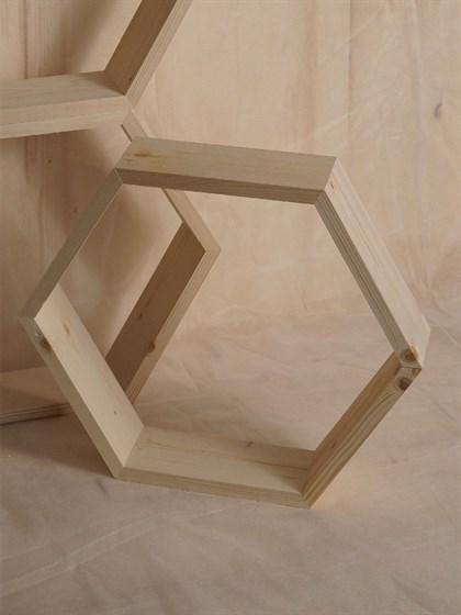 Полка деревянная 6 углов - фото 6875